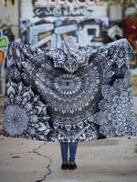 Mandala Bloom V2 Hooded Blanket