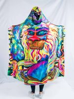 Meditating Rafiki Hooded Blanket