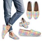 Midsummer Rainbow Casual Slip-Ons