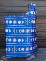 Moon Cycles Hooded Blanket