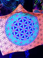 Neon Flower of Life Hooded Blanket