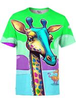 Neon Giraffe Unisex Crew
