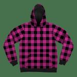 Neon Pink Black Plaid