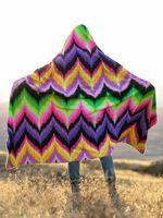 Neon Vibe Up Hooded Blanket