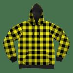 Neon Yellow Black Plaid