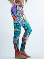 Optical Stained Glass Leggings