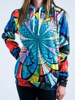 Optical Stained Glass Unisex Hoodie