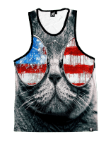 Patriotic Cat Unisex Tank Top