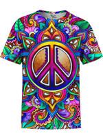 Peace Love Paisley Unisex Crew
