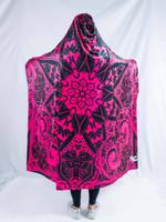 Pink Mandala Hooded Blanket