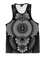 Platonic Mandala Black Unisex Tank Top