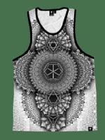 Platonic Mandala White Unisex Tank Top