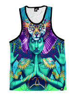 Power and Peace Unisex Tank Top
