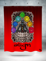 Red Align Shower Curtain