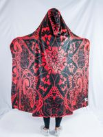 Red Mandala Hooded Blanket