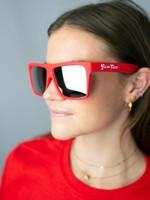 Red – Polarized Chrome Lensed Sunglasses