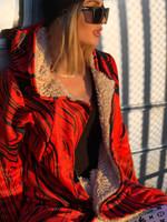 Red Retro Electro Dream Cloak