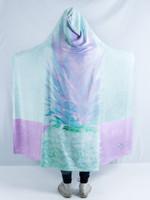 Retro Fineapple Hooded Blanket