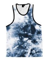 Smoke Tie Dye Unisex Tank Top