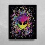 Splatter Alien HD Metal Panel Print Ready to Hang