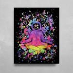 Splatter Astronaut HD Metal Panel Print Ready to Hang