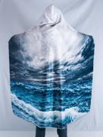 Stormy Ocean Hooded Blanket