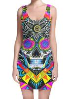 Sugar Skull Mini Dress