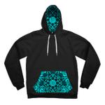 Teal Mandala Contrast Unisex Hoodie