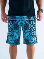 Teal Mandala Shorts