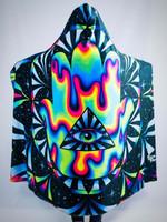 Trippy Hamsa Hooded Blanket
