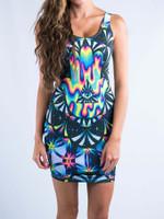 Trippy Hamsa Mini Dress