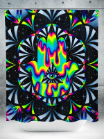 Trippy Hamsa Shower Curtain