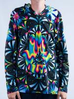 Trippy Hamsa Unisex Hooded Long Sleeve Shirt