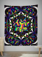 Trippy Lotus Tapestry