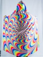 Trippy Spiral Hooded Blanket