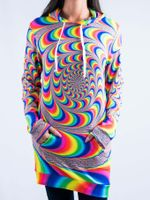 Trippy Spiral Hooded Dress