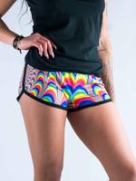 Trippy Spirals Women's Retro Shorts