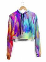 Trippy Waves Crop Hoodie