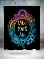 Vibe With Me Shower Curtain