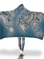 World Map Hooded Blanket