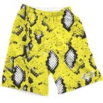 Yellow Snake Skin Shorts