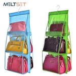 6-Pockets Wall Handbag Hanging Organizer