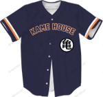 Kame House - Baseball Jersey - CUSTOMIZE NAME AND NUMBER - HOT SALE 3D PRINTED