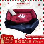 Paw Print Pet Bed Large House