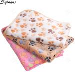 Dog Mattress Pet Soft Blanket Paw Print
