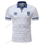 England 1990 World Cup Finals Retro Football - CUSTOMIZE NAME AND NUMBER - HOT SALE 3D PRINTED