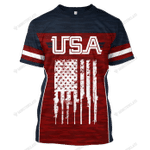 USA 2nd Amendment v2 - CUSTOMIZE NAME AND NUMBER - HOT SALE 3D PRINTED