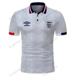 England 1989 Football - CUSTOMIZE NAME AND NUMBER - HOT SALE 3D PRINTED
