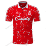 Liverpool 1989-91 Candy Football Sport Home - CUSTOMIZE NAME AND NUMBER - HOT SALE 3D PRINTED