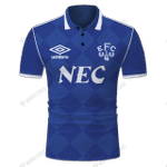 Everton 1987 Retro Football - CUSTOMIZE NAME AND NUMBER - HOT SALE 3D PRINTED
